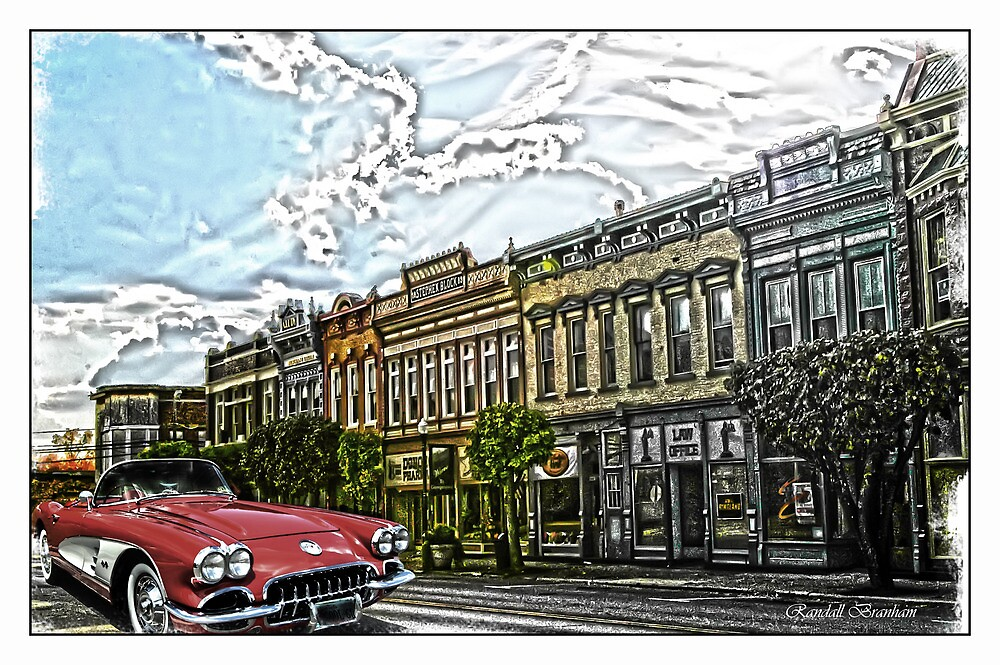 Super Cool Sixty Corvette Touring Town by Randy Branham