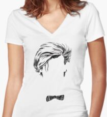 Who's that Bowtie Women's Fitted V-Neck T-Shirt