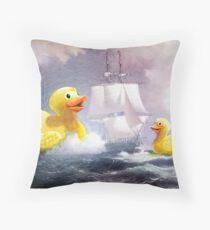 Terror on the High Seas 2 Throw Pillow
