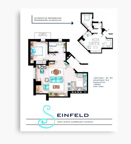 Seinfeld Apartment Canvas Print