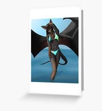 Beach Batty Greeting Card