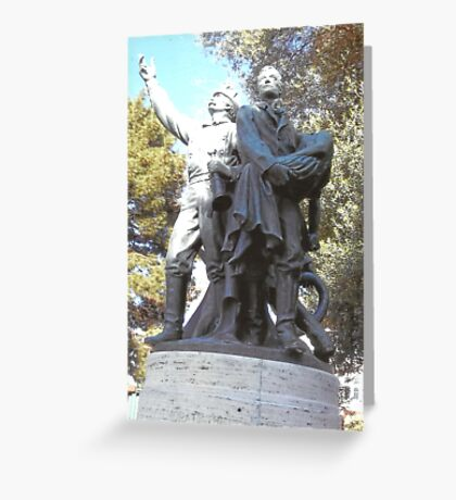 FireFighter's Statue In North Beach,S.F Greeting Card