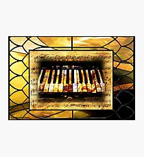 Stained Glass Template: Antique Ivories Photographic Print