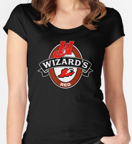 Wizard's Red Women's Fitted Scoop T-Shirt