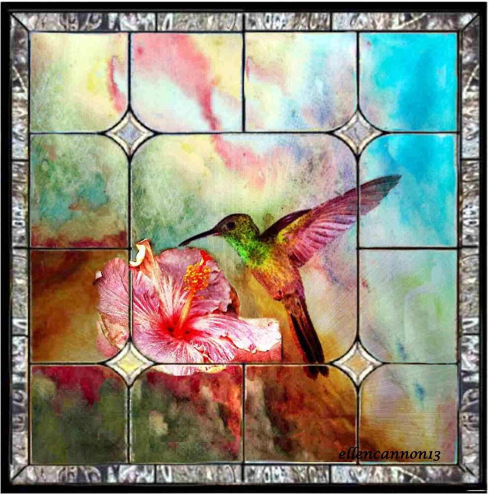 Stained Glass Template Hummingbird By Ecannon11 Redbubble