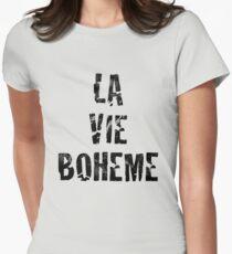 La Vie Boheme - Rent - Black Typography design Women's Fitted T-Shirt