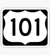 U.S. Route 101 Sign, USA - Regular Version Sticker