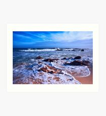 Cool Blue Sea Art Print