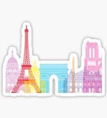 Paris skyline pop Sticker