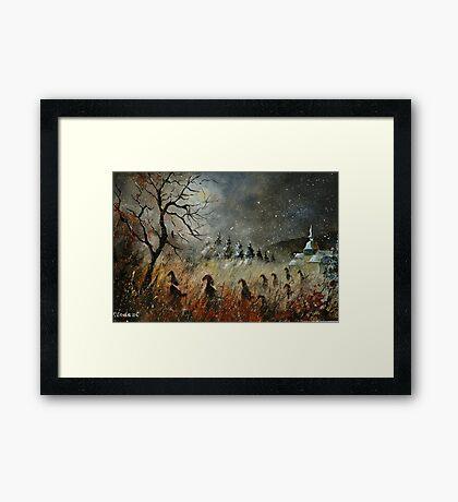 Dwarves heading to Framed Print