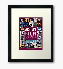Action Film Alphabet Framed Print
