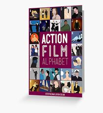 Action Film Alphabet Greeting Card