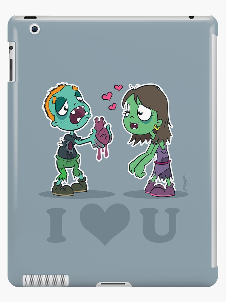 I Heart U : Zombies iPad by Craig Bruyn