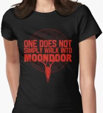 One Does Not Simply Walk Into Moondoor Women's Fitted T-Shirt