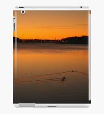 Lunenburg sunrise with ducks iPad Case/Skin