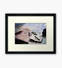 Plan your trip with anticipation Framed Print