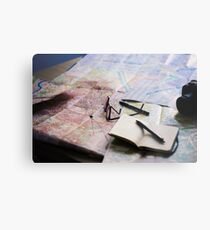 Plan your trip with anticipation Metal Print