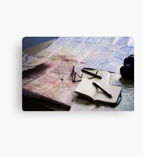 Plan your trip with anticipation Canvas Print