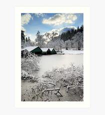 Loch Ard Winter Scene Art Print