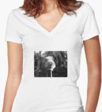 Pig Killer Women's Fitted V-Neck T-Shirt