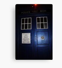 Doctor Who Tardis Door - Tom Baker Canvas Print