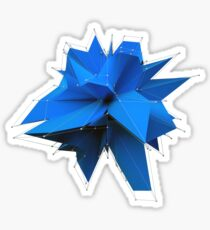 Blue Polygon Sticker