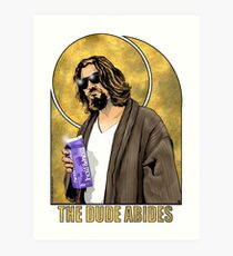 The Dude Big Lebowski Poster Art Print