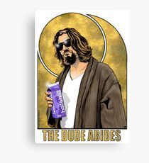 The Dude Big Lebowski Poster Canvas Print
