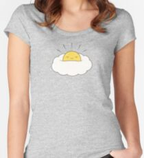 Sunshine for breakfast / Egg cloud Women's Fitted Scoop T-Shirt