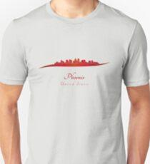 Phoenix skyline in red T-Shirt