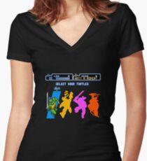 Turtles in Time - Leonardo Women's Fitted V-Neck T-Shirt