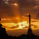 Eiffel Tower: Sunset from Jardin De Toullerie by David Mapletoft