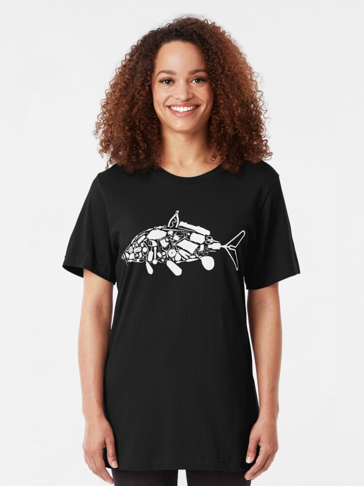 Alternate view of Carpy Diem - Dad's Fishing Shirt Slim Fit T-Shirt