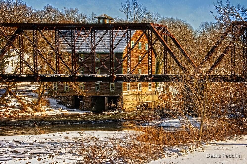 Ammerman Mill  & Railroad Truss Bridge by Debra Fedchin