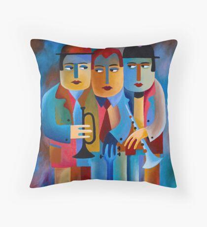 THREE MUSICIANS Throw Pillow