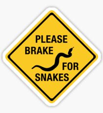 Please Brake For Snakes, Traffic Sign, Canada Sticker