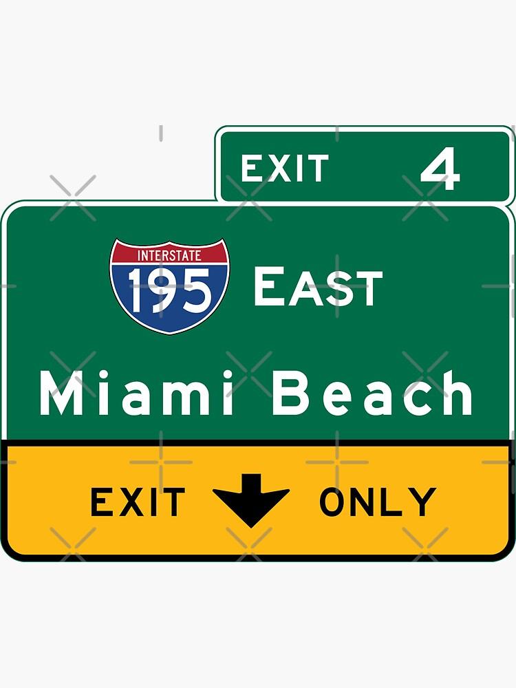 Miami Beach Verkehrsschild, Florida von worldofsigns