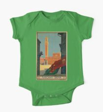 Vintage poster - Tuscany-Siena One Piece - Short Sleeve