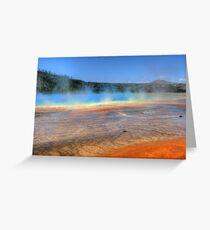 Grand Prismatic Springs Greeting Card