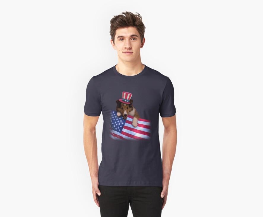 Patriotic Sheltie Puppy by jkartlife