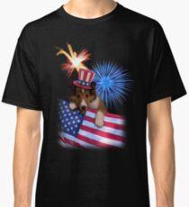 Patriotic Sheltie Puppy Classic T-Shirt