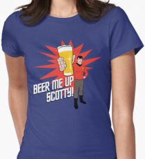 Beer Me Up Scotty Womens Fitted T-Shirt