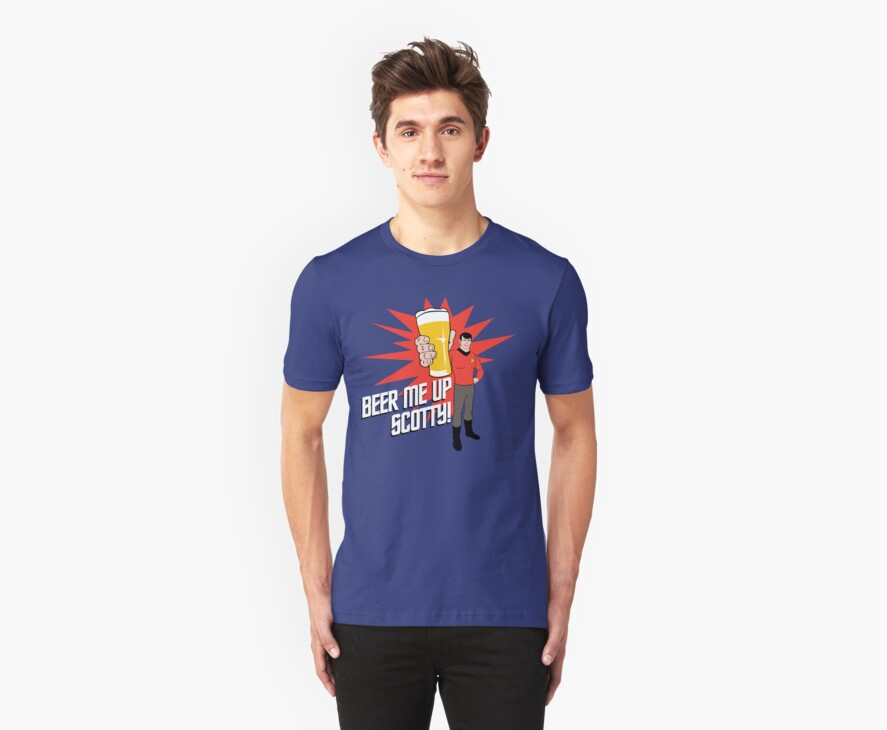 Beer Me Up Scotty by Crocktees