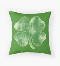 Vintage Shamrock for St. Patrick's Day Party Throw Pillow