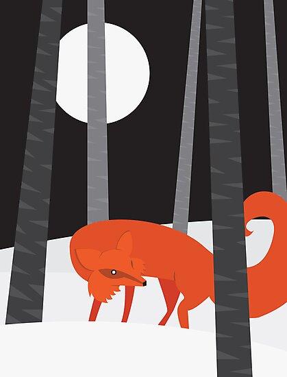 Winter Fox by volkandalyan