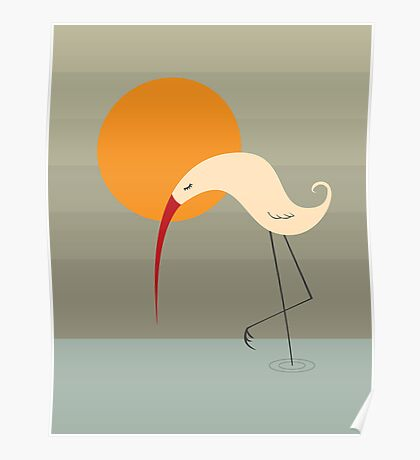 Bird and Sun Poster