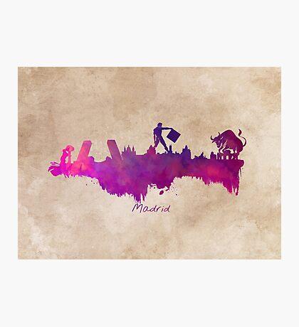 Madrid  purple art Photographic Print