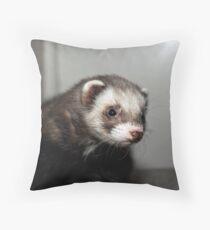 Monty Polecat Throw Pillow