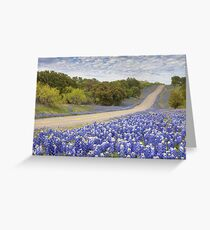 Texas Bluebonnet Highway in the Texas Hill Country Greeting Card