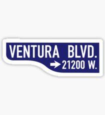 Ventura Boulevard, Los Angeles Street Sign, USA Sticker